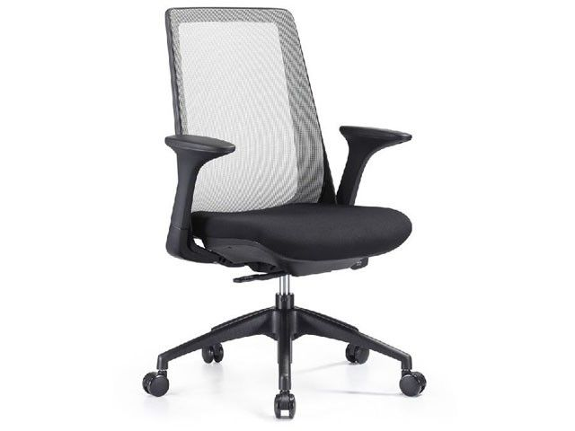 Woodstock Creedence Series Task Chair With Mesh Backrest And Upholstered Seat Fully Adjustable Many