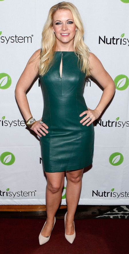 Amazing leather dress for the premiere party of my memoir Melissa Explains It All hosted by my friends at Nutrisystem in NYC 2013.