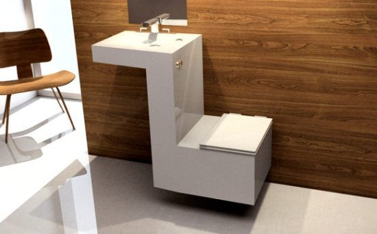 Saqua Alvaro Ares - Eco Friendly Sink & Toilet - uses water from sink in toilet know it just need a glass cabnet around the sink.
