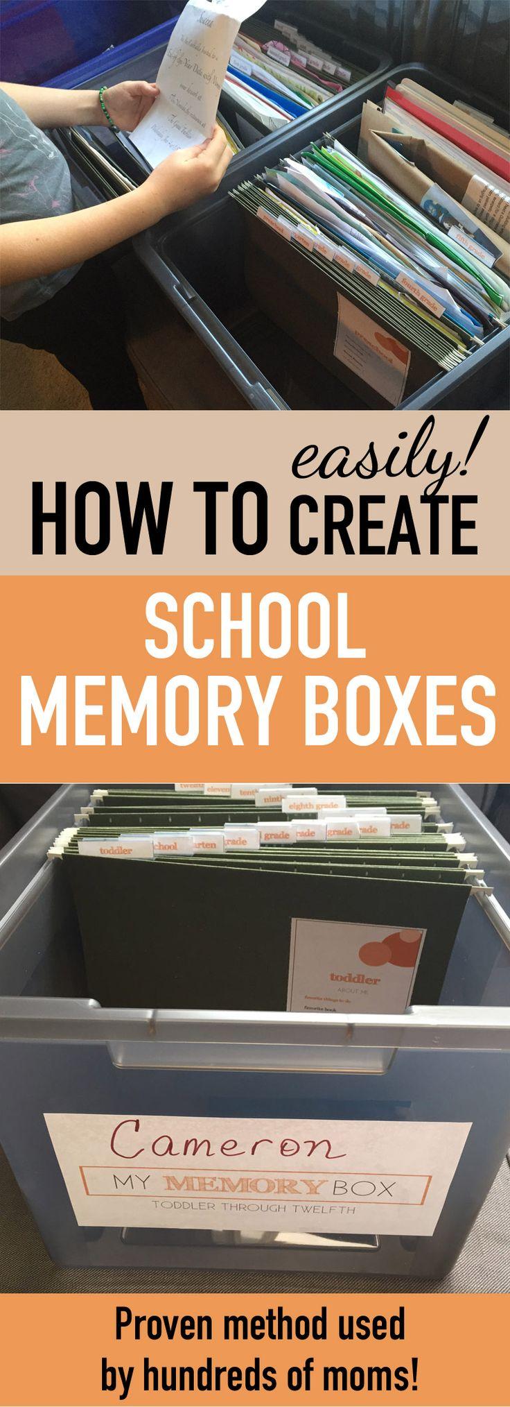 How to make scrapbook using illustration board - My Memory Box School Memory Box System