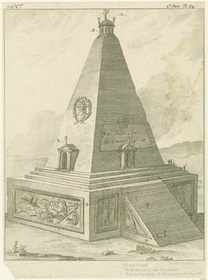 Tomb erected at Ecbatana for a favorite of Alexander the Great. - © NYPL Digital Gallery