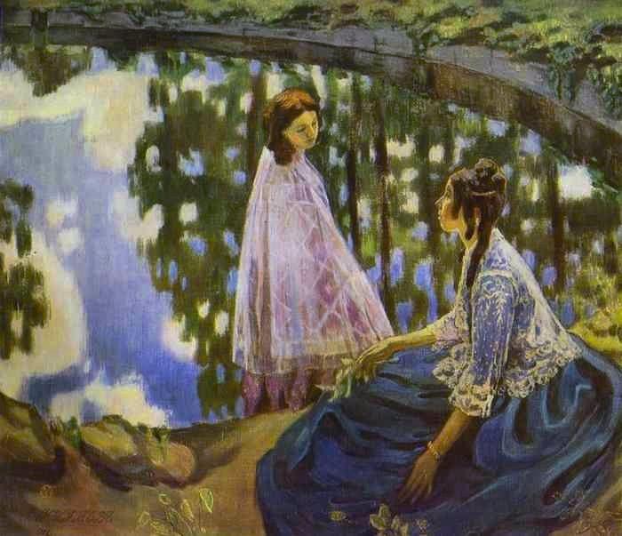 Victor Borisov-Musatov (1870-1905) - The Pool, 1902