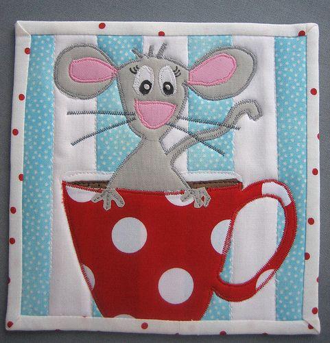 Mousy Mug Rug | 6 1/2 x 6 1/2 inches | Carol | Flickr
