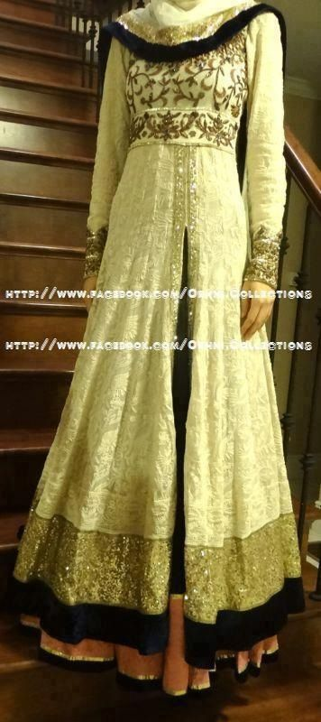 This Pakistani dress is so beautiful..  I would love to wear this dress...
