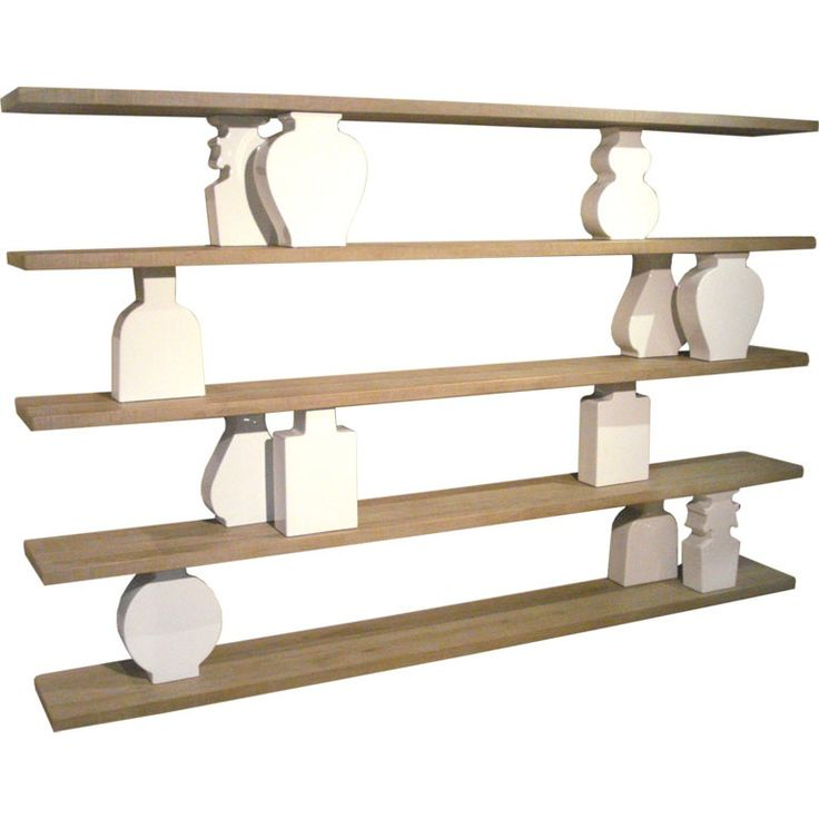 An Inspired Design And Structurally Engineered Shelving System Featuring  Sandblasted And Waxed Oak Shelving With 12 Highly Glazed, Uniquely Shaped,  Ceramic ...