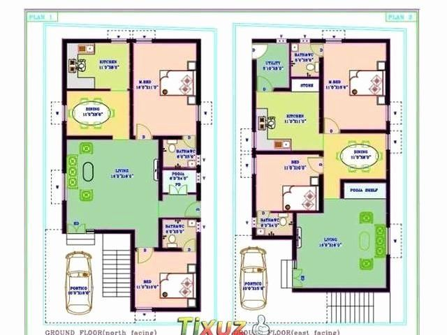 30x40 2 Bedroom House Plans Lovely Gallery Of 1500sqr Feet Single Floor Low Bud Home With 2bhk House Plan 30x40 House Plans North Facing House