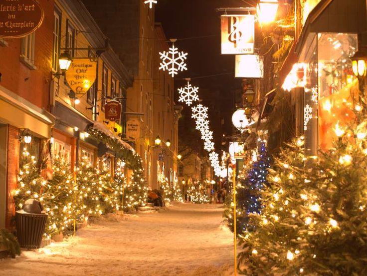 Quebec At Christmas Time Quebec City Christmas Quebec