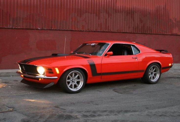 1970 Ford Mustang Boss 302 For Sale Headlights Orange #mustangclassiccars