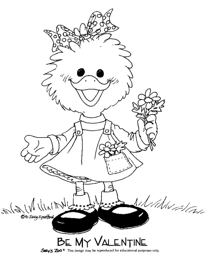 coloring page suzys zoo