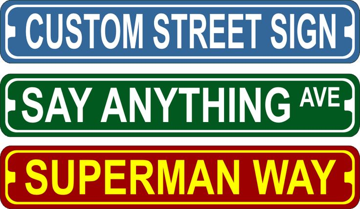 "Wholesale Custom Street Signs 3"" x 18"" Bulk Purchase For Resale"