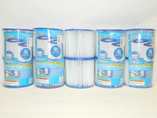 10 Type D Pool Filters New Pool Filter Type 10 Summer Escapes RP400 RP600  SFS600 $44.95