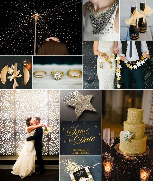 Starry Night Wedding Theme | http://simpleweddingstuff.blogspot.com/2014/02/starry-night-wedding-theme.html