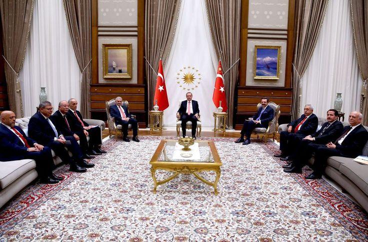 Türkiye-AB KİK heyeti Cumhurbaşkanı Erdoğan ile görüştü