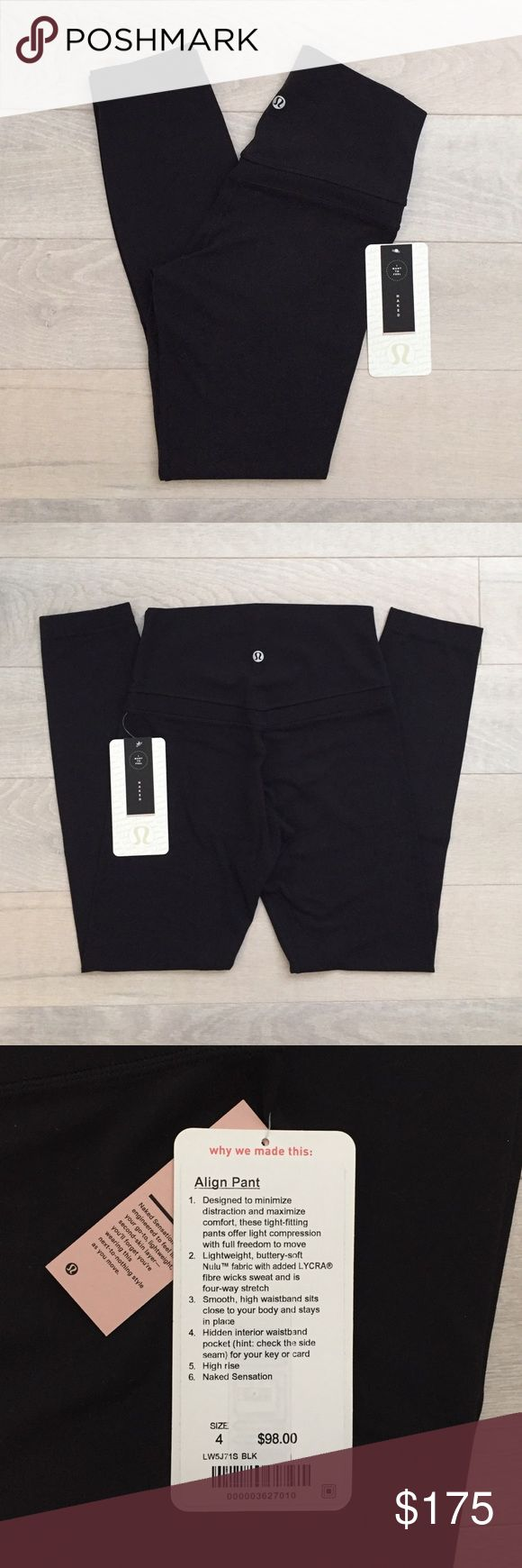 (nwt) lululemon Align Pant (original) (nwt) lululemon Align Pant (original) in black, size 4. The original style is sold out and selling for $$$ on other resale sites. Listing high as I've already been offered several high offers.  If you don't like my price, the Align Pant II is a newer style in-stock online for $98. Please don't leave rude comments on this post, thank you!  •Smoke-free + pet-free home •Items shipped within 1-2 days •NO trades or other forms of payment lululemon athletica…