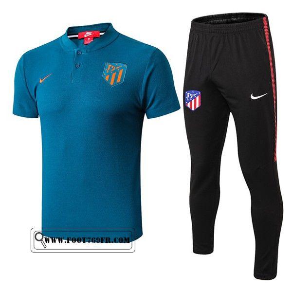 detergente Ficticio Agacharse  Nouveau Ensemble Polo Atletico Madrid + Pantalon Bleu 2019/2020   Atlético  madrid, Polo, Pants