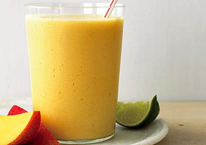 Mango Smoothie with Avacado!   ¼ cup frozen mango cubes, ¼ cup mashed ripe avocado, ½ cup mango juice, ¼ cup coconut milk (I subst for yogurt), 1 Tbsp freshly squeezed lime juice, 6 ice cubes