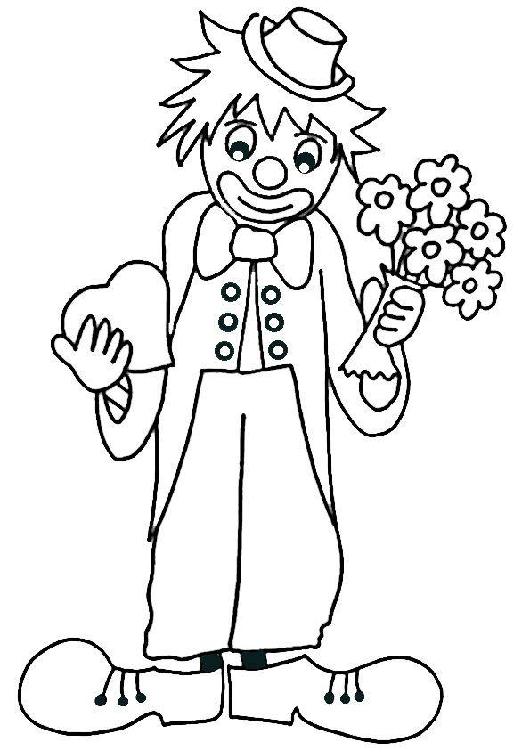 рисунок клоуна карандашом в полный рост при малейших подозрениях