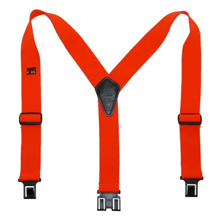 These heavy duty work suspenders are treated to be flame retardant. Hook the clips to your belt for a secure and comfortable wear.