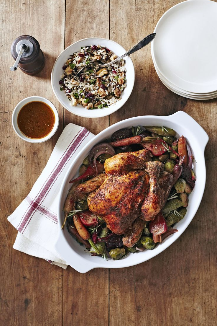 Need something healthy and hands-off? Look no further than this easy-yet-impressive dinner that's sure to please your whole flock. Recipe: Herbed Chicken With Beets and Brussels   - CountryLiving.com