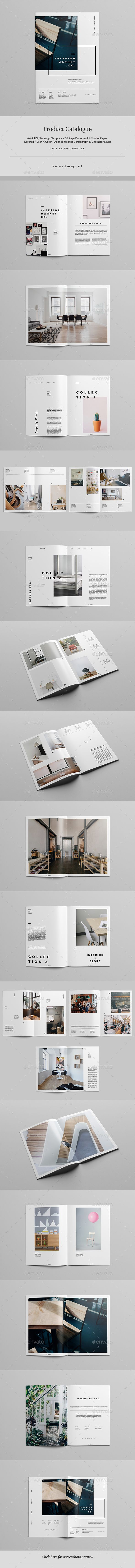 Product Catalogue Brochure Template InDesign INDD - 36 Pages, A4 & US Letter Size