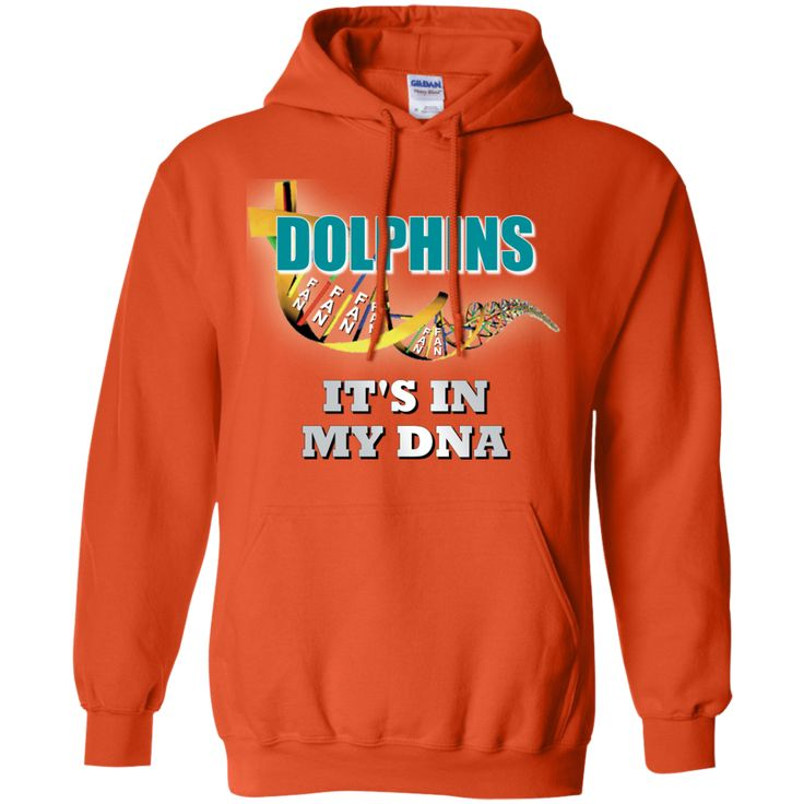 This Mens Orange DNA Pullover Dolphins Hoodie Sweatshirt is made of a 50% cotton-50% polyester blend. Digital printing. Eight sizes. Free Shipping. Excellent quality. Visit SportsFansPlus.com for Details.