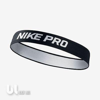 Nike Pro Stirnband Headband Herren Damen Kopfband Fussball Haarband Schwarz ACC