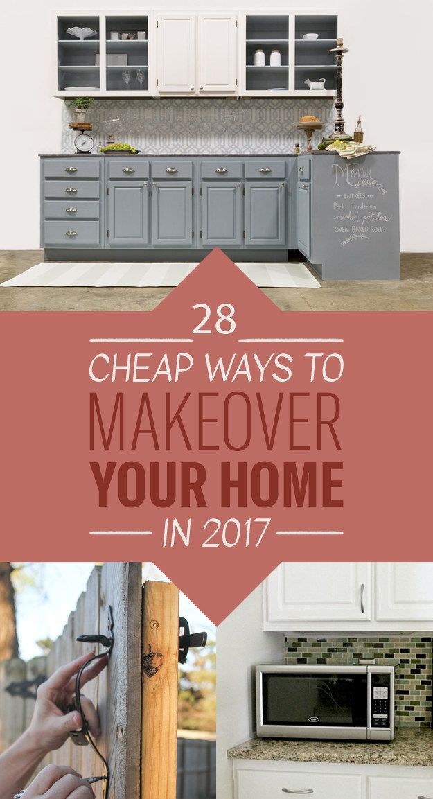 28 Cheap Ways To Makeover Your Home In 2017--posted for the removable wallpaper.