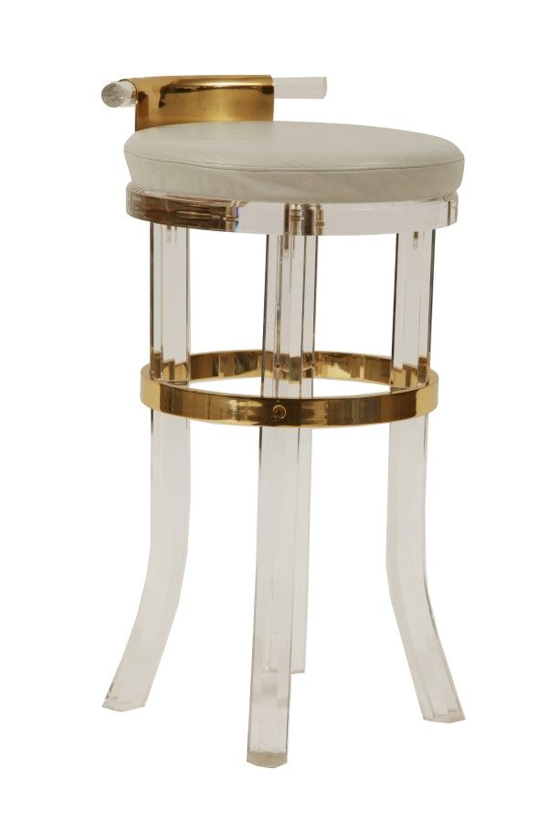 Lucite U0026 Brass Counter Stools | Red Modern Furniture