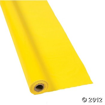 Yellow Tablecloth Roll  to use for hanging, etc.