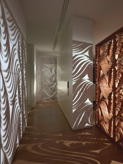 Love Idea Of Dividing A Room With Interesting Patterns Of Light Streaming  Through