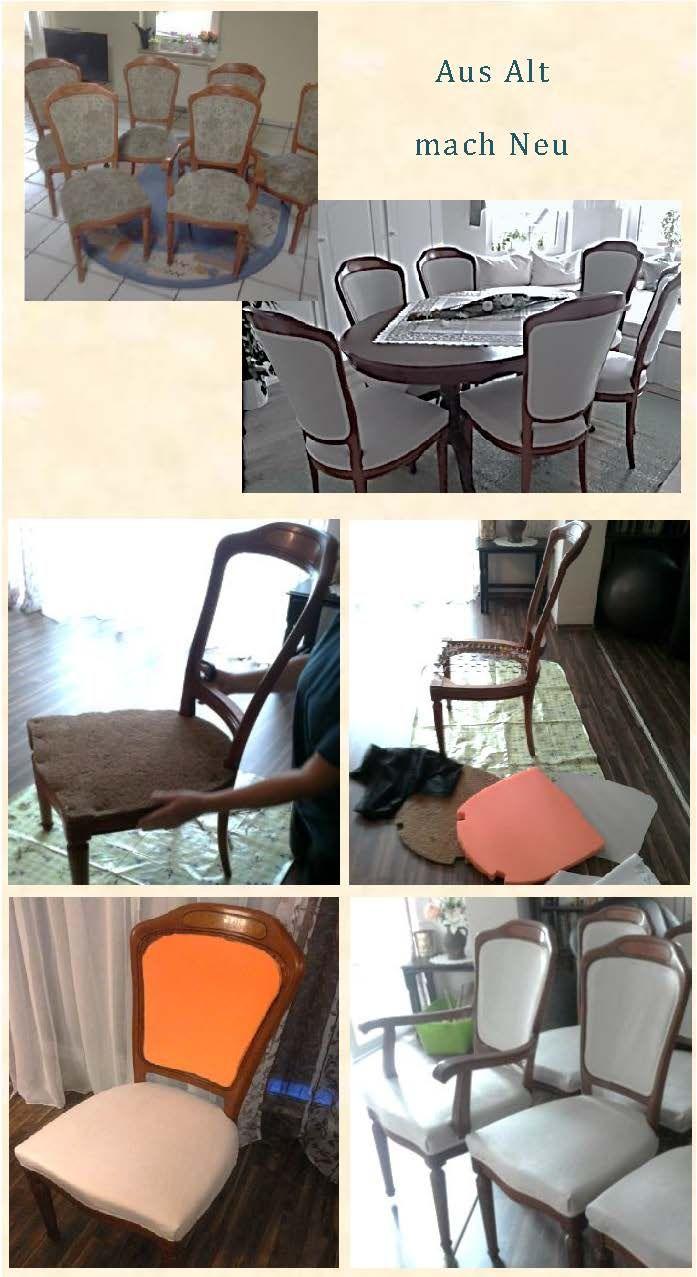 Stühle neu beziehen- Sitzfläche polstern                                                                                                                                                                                 Mehr