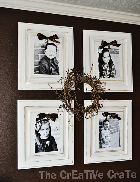 pictures on old cabinet doors