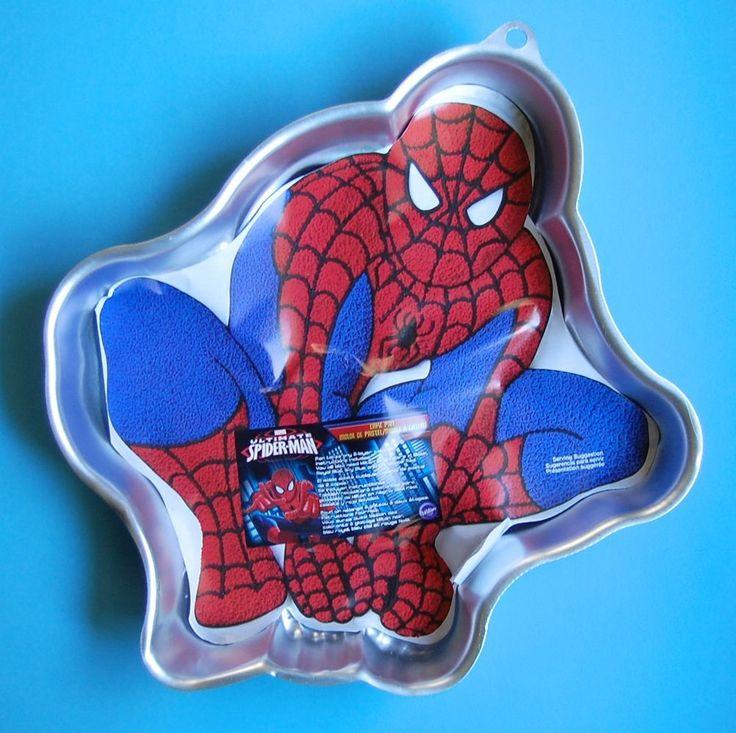 Wilton Spiderman Cake Pan New Insert Instructions 2105 5062 Ultimate Spider Man