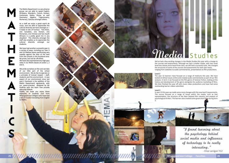 Yearbook Pages Maths And Media Studies Yearbook Ideas
