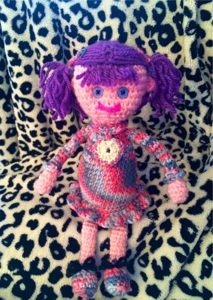 Crochet doll simply made by watching a YouTube video :)