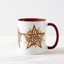 Blessed seja caneca de café do pentagram | Zazzle