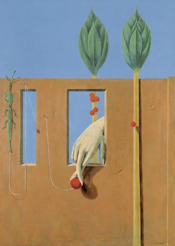 "Max Ernst, ""Au Premier Mot limpide"", 1923. Huile sur plâtre, reporté sur toile, 232 × 167 cm. Kunstsammlung Nordrhein-Westfalen, Düsseldorf. | 2013, PROLITTERIS, ZURICH / PHOTO WALTER KLEIN, DÜSSELDORF"