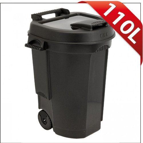 http://ift.tt/1YgtJW9 Abfallbehälter 110L schwarz fahrbar Mülltonne Garten Abfalltonne @salesiiju@