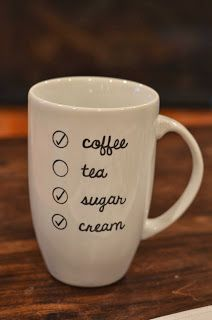 DIY: Cute Starbucks style coffee mug made with Sharpies!