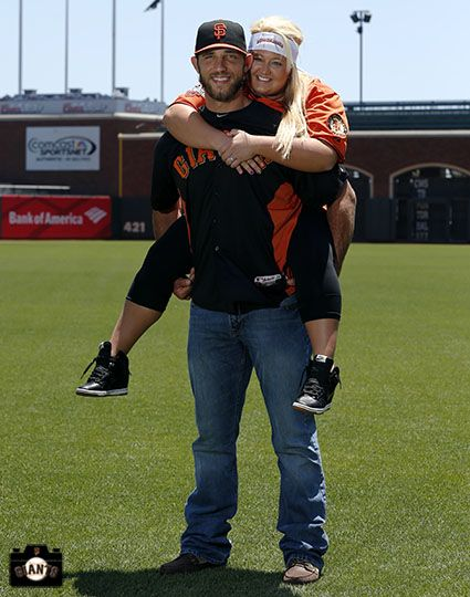Madison Bumgarner and wife...how cute are they???