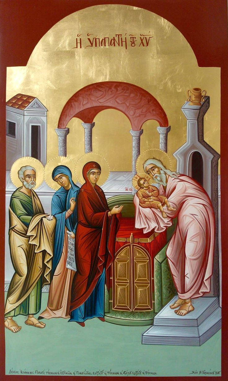 Presentation of Christ in the Temple by Costas Gerasimou