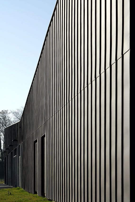 Aat Gueux The Zinc Exterior Cladding - texture and shadow