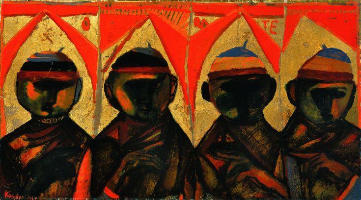 Kondor Béla / Négy szent - Four saints (1958)