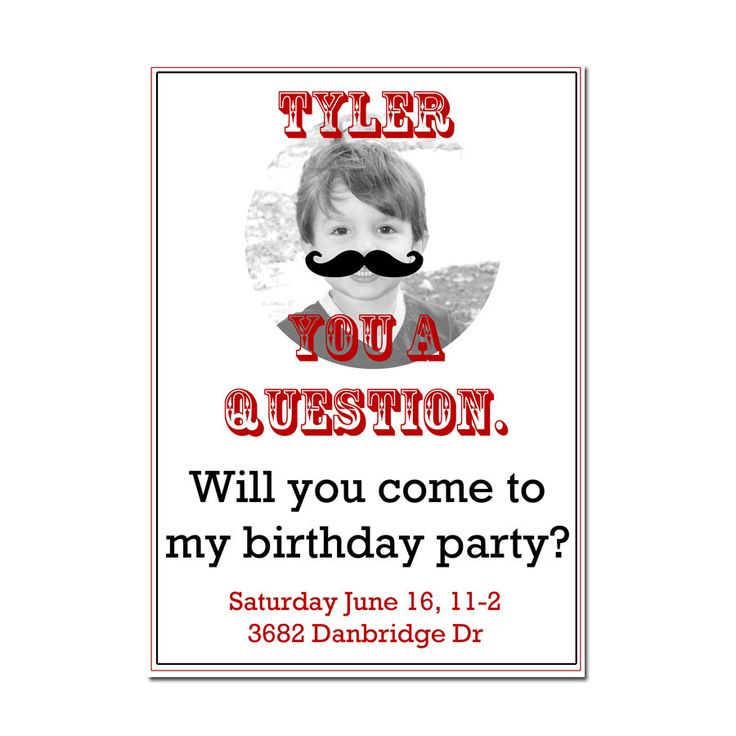 mustache party invitation boys birthday invitation by peachymommy - Mustache Party Invitations