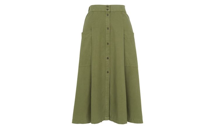 Edin Button Through Skirt