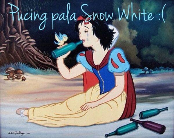 Putri Salju telah terkena imbas budaya Medan.... #eh