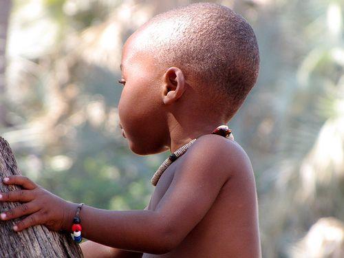 Baby Himba boy, Namibia