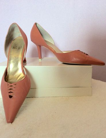 HOGL ROSE PINK LEATHER HEELS SIZE 5/38 - £30  Whispers Dress Agency - Womens Heels - 1