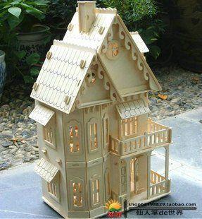 Новый DIY фантазии интеллектуальные образовательные игрушки 3D модель здания деревянные головоломки дети / взрослые игрушки ручной работы готический дом G-DH001 к
