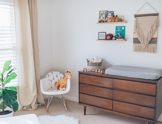 Orange and Indigo Modern Nursery - Inspired by This